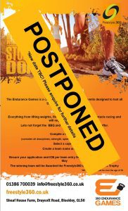 Endurance Games Postponed